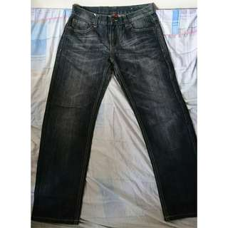 BSX Straight Jeans. W33 Length,100cm(80% New,100% Real)