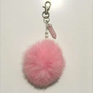 Pink Fluffy Keychain