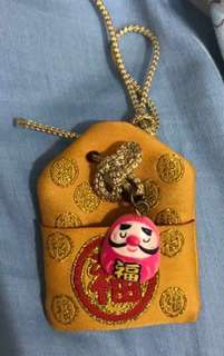 🚚 Lucky wealth charm with bells and string