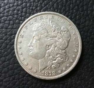 1878 Morgan dollar 8 tail feathers
