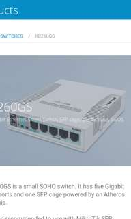 Mikrotik RouterBOARD 260G-S RB260GS