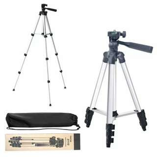 3310 portable camera tripod with 3d head with phone holder