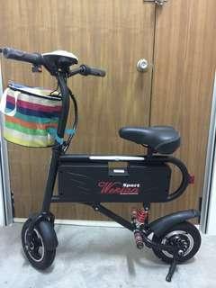 Mini E-Bike 36V 10Ah 350W Brushless Gearless motor 10 inch tires 25-35KM