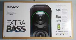 Sony XB60 EXTRA BASS High Power Audio System with built-in battery