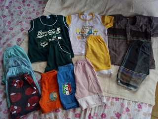 Boy's pants + t-shirts(preloved)