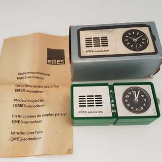 🚚 Art Deco, Retro Timepiece, Vintage Alarm Timer, Rare Collectibles, EMES Sonochron Alarm Clock, Manual Winding Travel Clock, Made in Germany, New in Box with Instructions, For Collector, For Display, For Travel