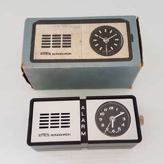 🚚 Vintage Alarm Timer, Retro Timepiece, Rare Collectibles, EMES Sonochron Alarm Clock, Art Deco, Manual Winding Travel Clock, Made in Germany, New in Box with Instructions, For Collector, For Display, For Travel