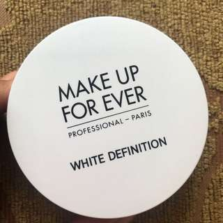 Make Up For Ever MUFE White Definition