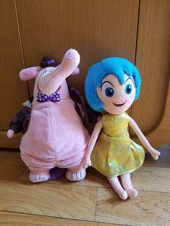 Inside out JOY and BING BONG doll set