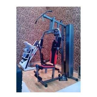 Alat Olahraga Fitnes Angkat beban - Home Gym 1 sisi dengan beban 50 Kg anti gores