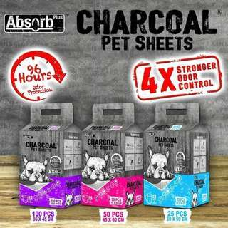 ❇️PROMO❇️ 🐶 3 Packs for $42 ALL SIZES 🐶 Absorb Plus Charcoal Pee Pad / Pet Sheets
