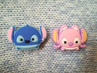 Jibbitz Inspired Crocs Charms: Stitch and Angel