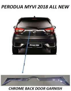 Myvi 2017-2018 Chrome Back Door Garnish