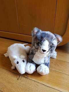Ori IKEA super soft cat and mouse dolls