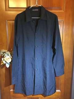 🚚 黑色長版外套 長版襯衫 #女裝半價拉