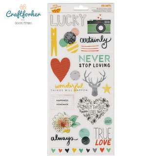 🚚 ★Sticker★ Transparent Stickers Sheet - Accent and Phrase, 65pcs