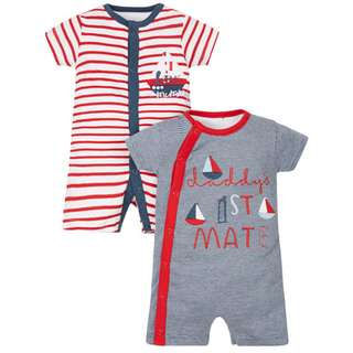 Mothercare Little Sailor Rompers - 2 Pack