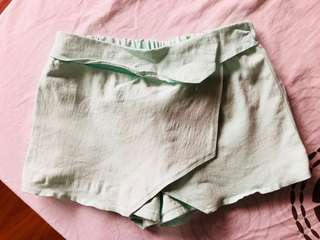 Preloved Mint Green Origami Shorts