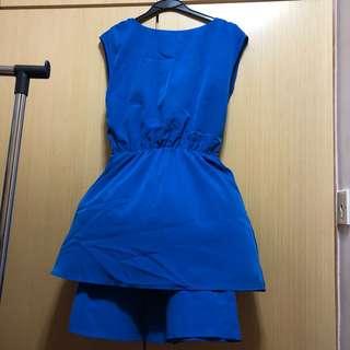 極新H&M藍色連身裙 全新一樣靚色絲質不易皺 標準尺碼 睇好評