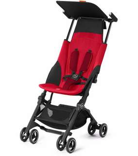 GB Pockit+ Plus Stroller - Reclineable - Red