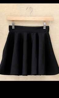 現貨 黑色半身短裙傘裙