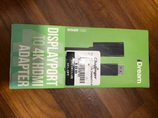 Display Port to 4K HDMI Adapter