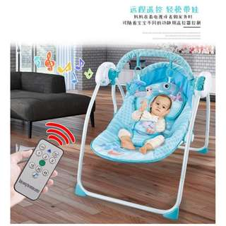 remote control rocking chair / baby swing pink /baby swing blue new born baby