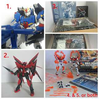 Gundam for trade or sale (bandai and BL)