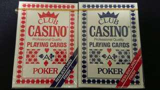 (罕有品)全新1997年ohio製CLUB CASINO撲克紅藍一對