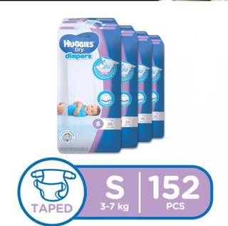 Huggies dry Small 38s x 4 packs