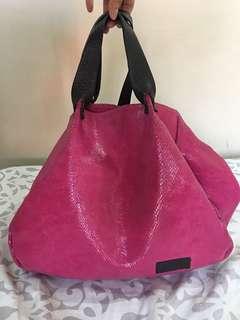 Marni pink Snakeskin Hobo Bag