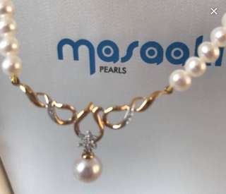 authentic MASAAKI PEARL NECKLACE