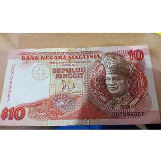 RM10 malaysian old note