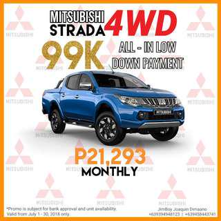 Mitsubishi Strada LOW DOWN Promo SURE Approval NO Minimum Requirements DIAL NOW! 09394948123 or 09458443741