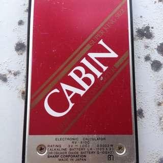 *日本製造*SHARP特製口袋型迷你版計算機 附皮套 日本品牌CABIN TRIPLE CHARCOAL FILTER