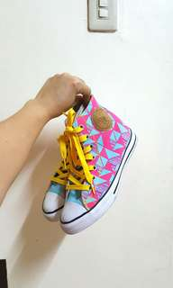 Colorful high cut sneakers