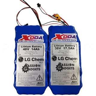 DYU internel 36v / 48v Xoda battery