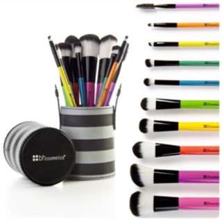 (READY STOCK) BH COSMETICS - 10pcs Pop Art Brush Set