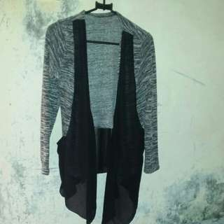 outer combi knit