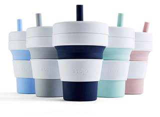 Stojo Biggie Collapsible Cup in 470ml (16oz) or 350ml (12oz)