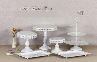 White Dessert Stands Set (RENTAL)
