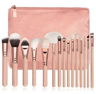 🚚 [PO] 15pc Makeup Brush set (with pouch)