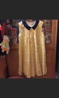 黃色娃娃連身裙