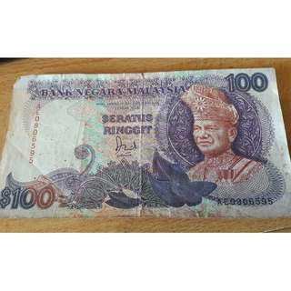 RM100 Malaysian Old Note