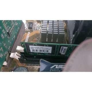 🚚 P4B533-X美國版+256MB記憶體一支+顯卡一張
