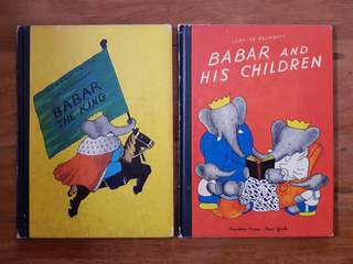 Babar Book (2 books set) childrens book hardcover