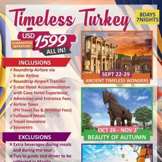 8D7N ALL IN TIMELESS TURKEY TOUR PACKAGE