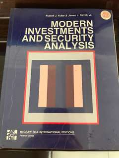 Modern Investments & Security Analysis