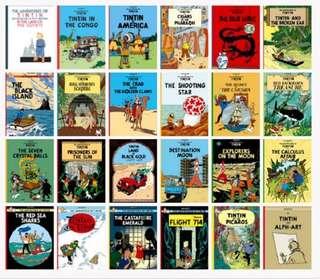 💥 NEW - Adventures of Tin Tin Set of 23 books - Children comics