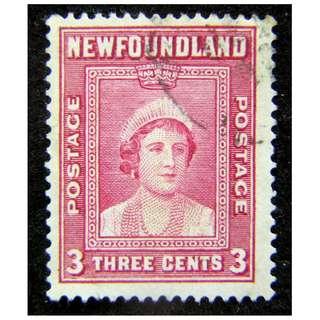 1938年英屬紐芬蘭(Newfoundland)伊莉莎伯皇后像3仙郵票